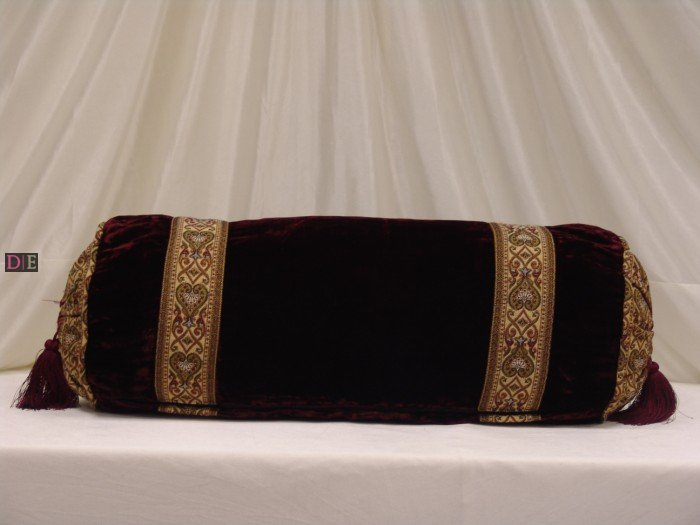 Mehndi Decoration Package : Velvet maroon bolster