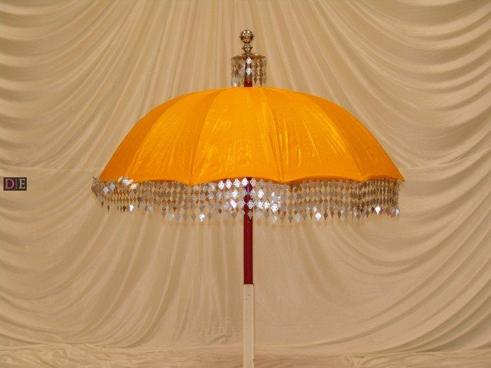 Yellow Gold Decorative Umbrella