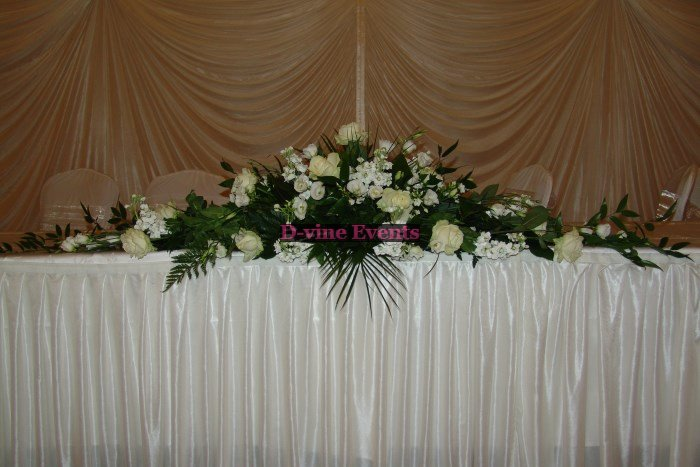 Wedding Flowers Top Table Ideas Flower Arrangements For Weddings Images