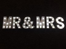 Mr & Mrs Light Up Sign Letters