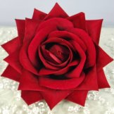 Velvet Red Rose Head Hire