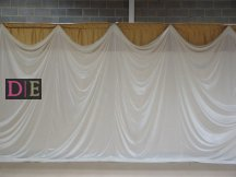 Draped Backdrop Gold Top