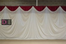 Draped Backdrop Maroon Top