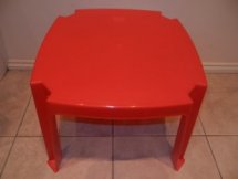 Kid's Red Table Hire