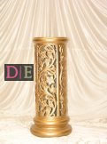 Gold Carved Pedestal