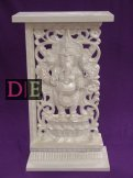 Pearl Wood Carved Pedestal