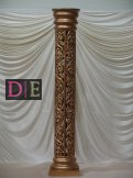 Gold Carved Pillar