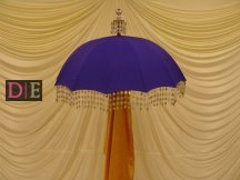 Purple/Blue Decorative Umbrella