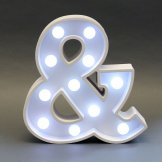 Ampersand (&) Light Up Sign