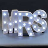 Mrs Wedding Light Up Sign